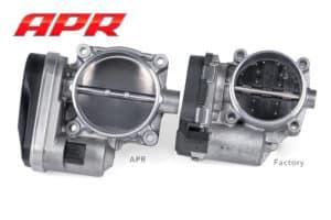 APR vs Stock throttle body comparison