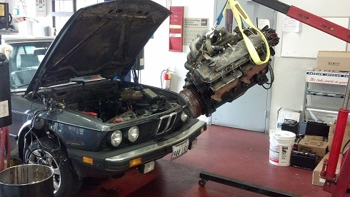 BMW engine removal